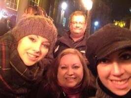 Tiff, Teal, Mel, Barron in Scotland