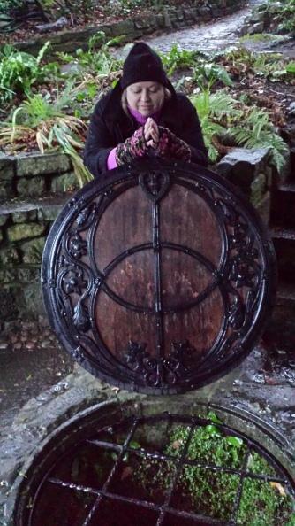 Glastonbury Well UK with Teal